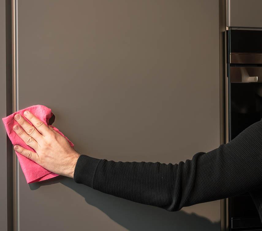 Küchen Pflege Tipps anti-fingen-print Front